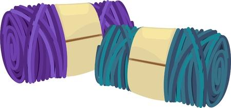 illustration colored balls of yarn  Vector