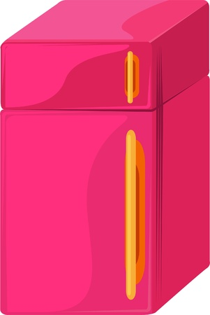 illustration of isolated refrigerator on white background  Vector