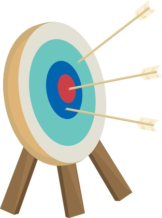 Arrows target with arrows  Vector