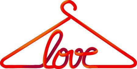 hanger love  Illustration
