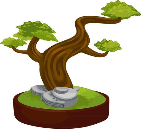 bonsai vector  Stock Vector - 12129722