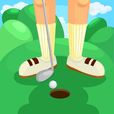 putter: golf vector  Illustration