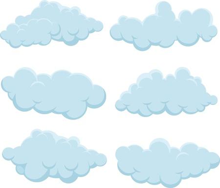 nubes caricatura: ilustración nubes