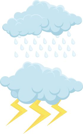illustration clouds  Vector