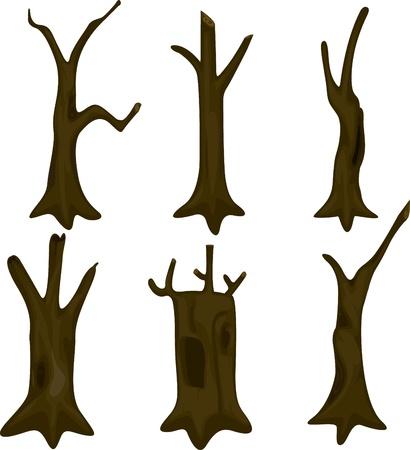 illustration tree trunk