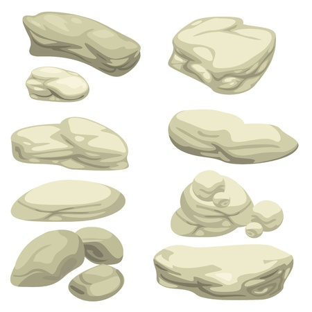 piedra de conjunto ilustrador Ilustración de vector