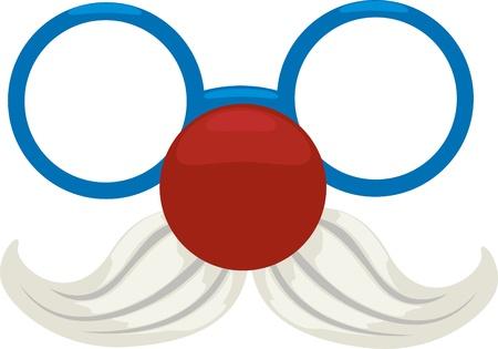 nariz roja: Ilustraci�n del payaso vasos de archivos vectoriales