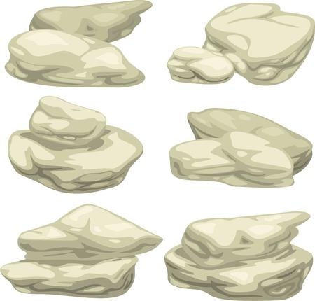 illustration Stone object set