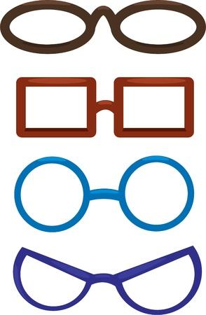 specs: Illustration Clown glasses