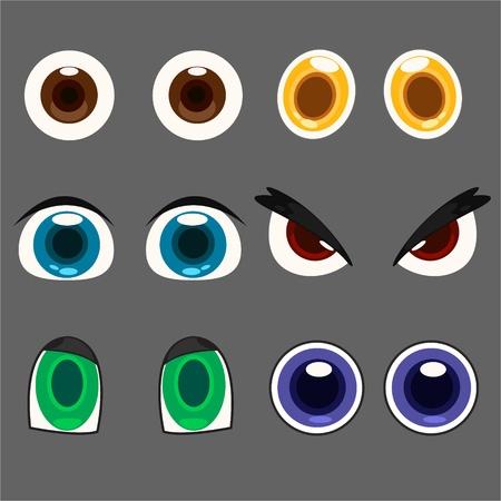 ojos caricatura: ojo conjunto