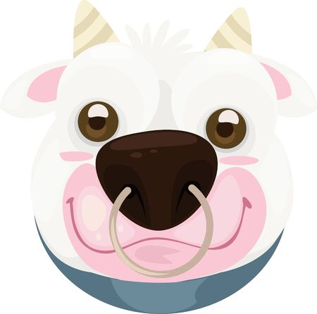 mask cow Vector