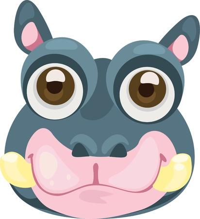 mask hippo Stock Vector - 12125467
