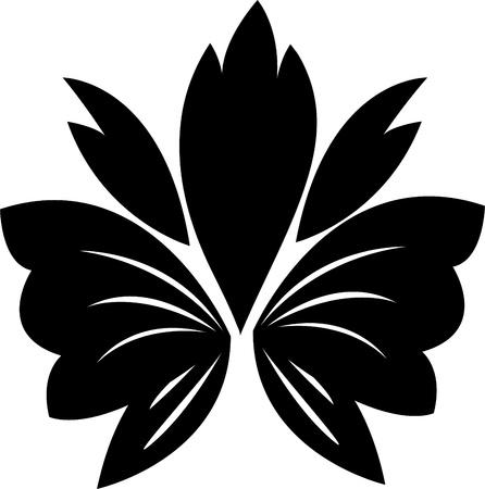 flower Silhouette Stock Vector - 12125502