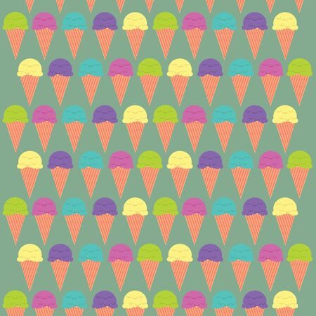 illustration Ice cream  Vector