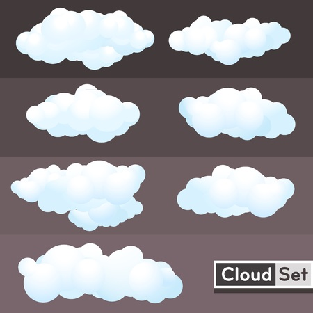 clouds and skies: illustration Clouds Set
