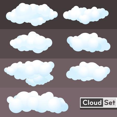 cumulus cloud: Nuvole illustrazione Set
