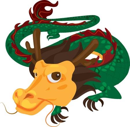 illustration dragon Vector