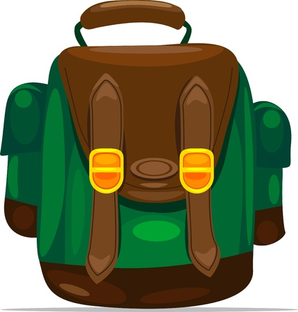 illustration backpack Vector