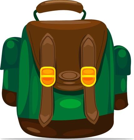 illustration backpack Ilustracja