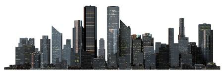 new york buildings: Object 3d City landscape.