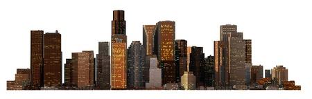 new york silhouette: Object 3d City landscape.
