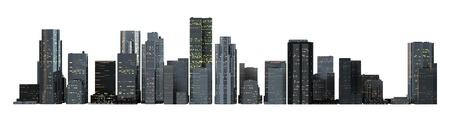 Object 3d City landscape.