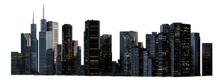 Object 3d City landscape. photo