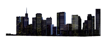 new york skyline: Object 3d City landscape.