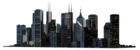 new york skyline: Object 3d City landscape.