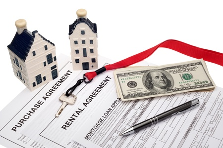 property management: Real estate business and financial planning Stock Photo