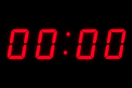 Digital clock countdown at midnight Reklamní fotografie