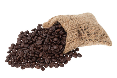Coffee beans isolated on white background photo