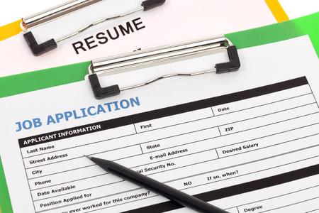 Job application and resume photo