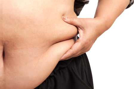 tubby: fat woman isolated podgy corpulent  rotund  tubby  plump