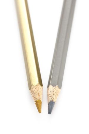 연필 컬러 골드 실버 스톡 콘텐츠