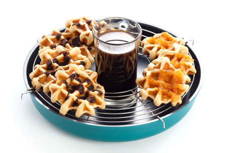 morning breakfast: coffee waffles currant morning breakfast