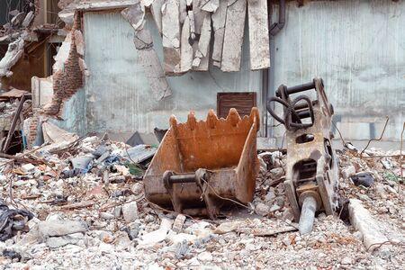 old building destroyed demolition construction concrete architecture garbage abandoned