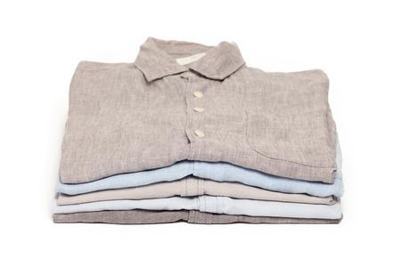 다림질 된 집 집 다림질 셔츠 인테리어 개념 흰색 배경