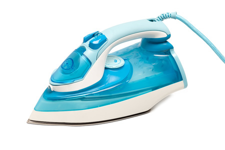steam iron: iron housework ironed electric tool clean white background ironing steam housekeeping