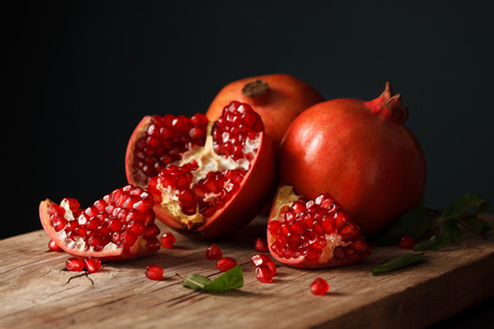 pomegranates: pomegranate fruit healthy food fresh organic still life vegetarian juicy antioxidant