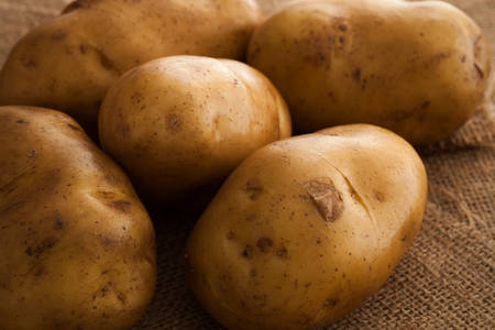 russet: potato ingredient raw rustic still life sack background