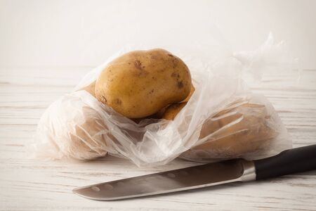 russet: potato ingredient raw rustic still life wood background