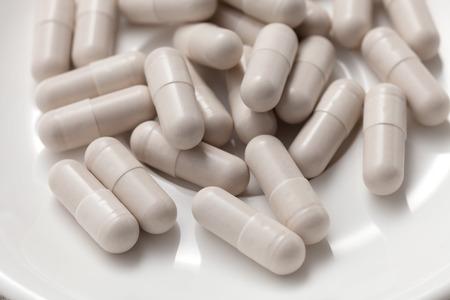 글루타티온 보충 항산화 아직도 인생을 대체 건강한 흰색 배경