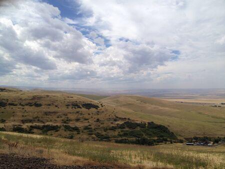 Hilly horizon of southeast Washington state