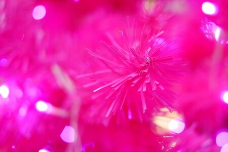 plastic christmas tree: The close up of pink plastic Christmas tree. Stock Photo