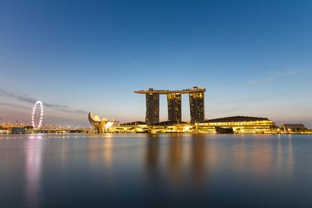 marina bay: Sunrise at Marina bay sands, SIngapore Editorial