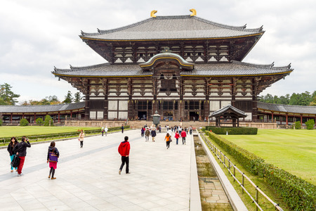 encompasses: Wooden main building of Todaiji temple in Nara, Japan. The UNESCO World Heritage Site Historic Monuments of Ancient Nara encompasses eight places in the old capital Nara in Nara Prefecture, Japan. Editorial