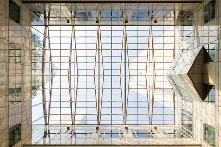 ceiling: Glass ceiling