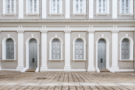 Facade designed in Neo-Palladian and Renaissance style