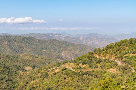 haze: Landscape view from mountain top with haze Stock Photo